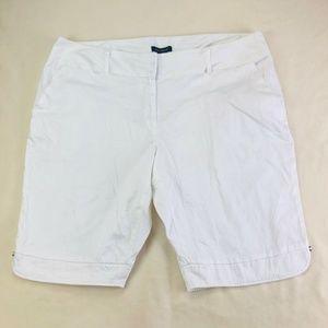 Ashley Stewart 24W White Khaki Chino Shorts